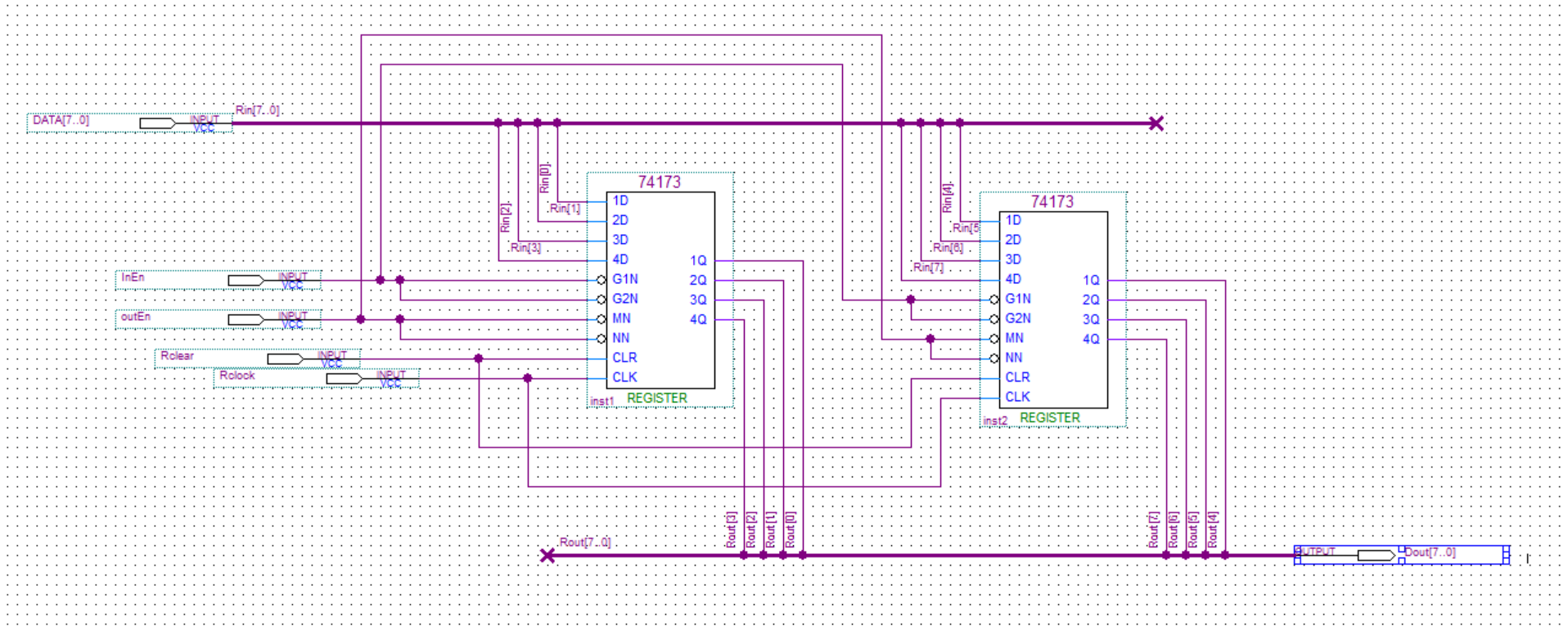 Circuit Diagram With Decoder And Shift Register The Challenge Figure 4 For An 8 Bit Using Chips 74173
