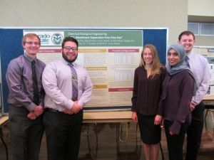 CBE senior design project members display their poster at the 2017 E-Days Showcase.