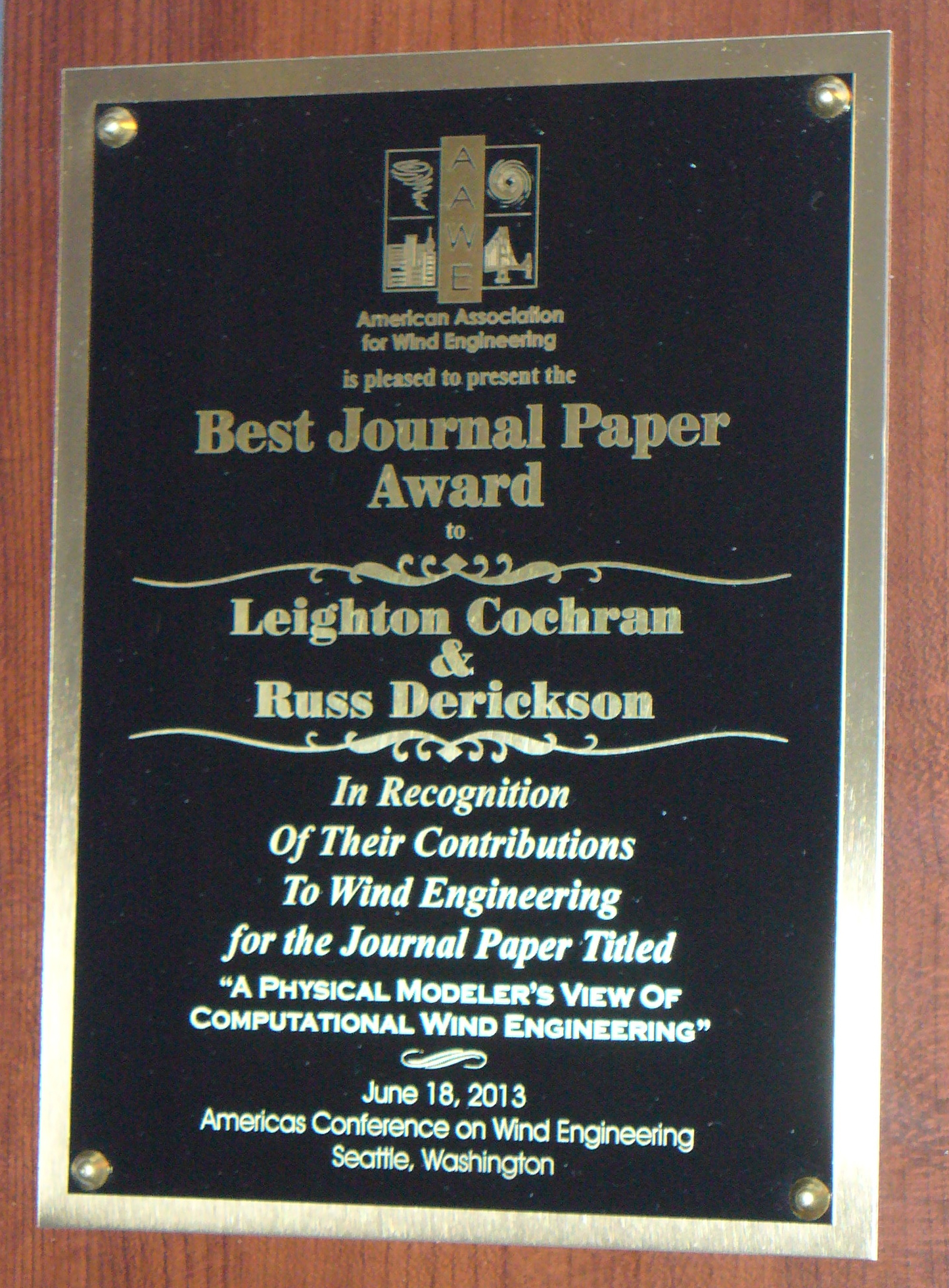 Best Journal Paper