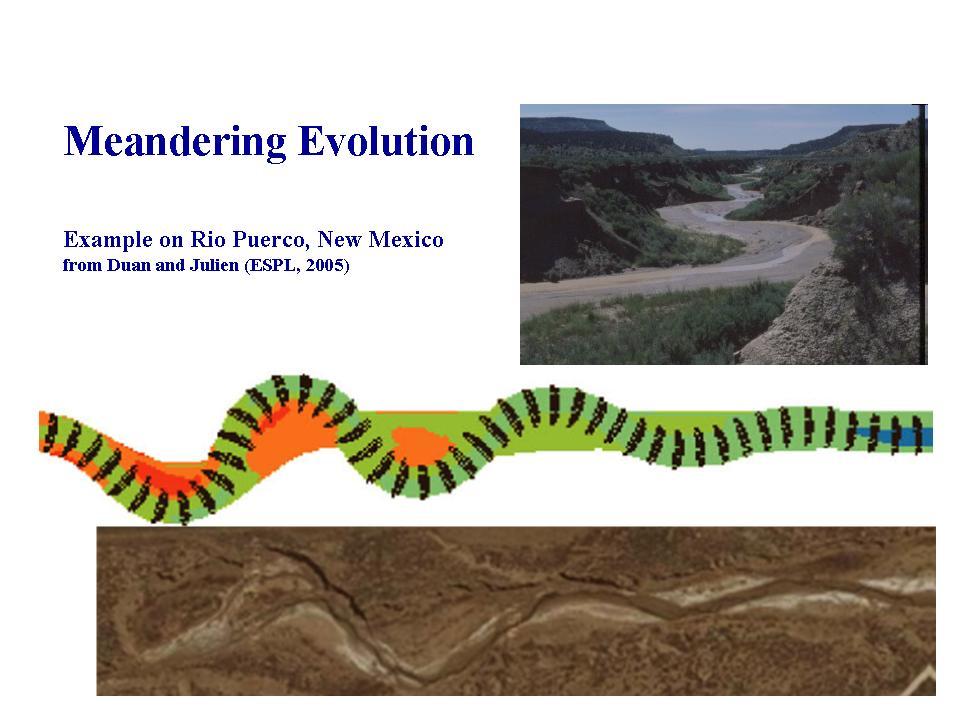 Meandering Evolution