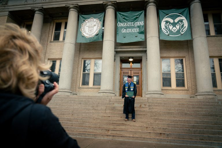 The Colorado State University College of Health and Human Sciences celebrates its graduates at the Spring Commencement Walk on The Oval