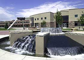 Picture of the fountain outside Colorado State University's engineering building in 72 ppi resolution