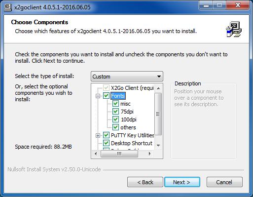 X2Go install config