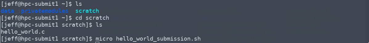 Writing a submission script