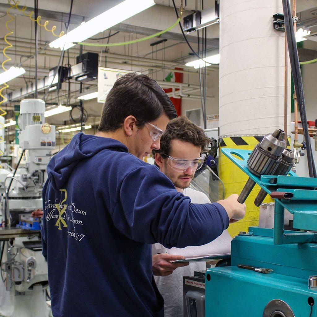 Mechanical Engineering students Engineering Manufacturing Education Center teaching laboratory January 2020