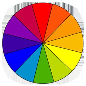 sample color wheel demonstrating full color vision