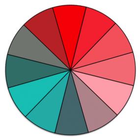 sample color wheel demonstrating tritanopia