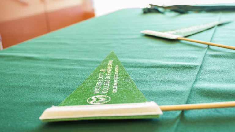 Pennant on table, Image copyright Walter Scott, Jr. College of Engineering, Colorado State University.