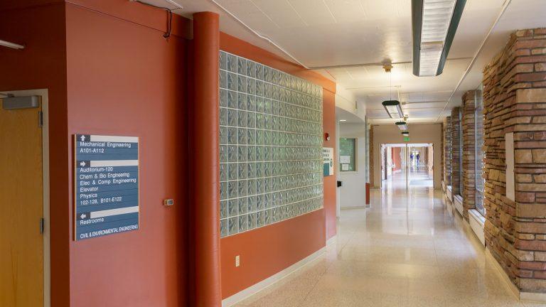 Interior of CSU Engineering Building. Image copyright Walter Scott, Jr. College of Engineering, Colorado State University.