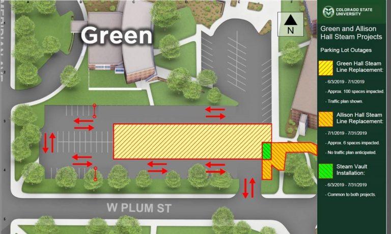 Green Hall Parking Map Summer 2019