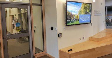 Engineering Success Center Atrium Television