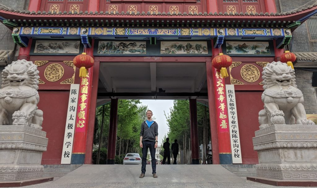 James Wheaton, a third-year Ph.D. student in systems engineering, at Chenjiagou (Chen Village) in Henan, China where taijiquan originated.