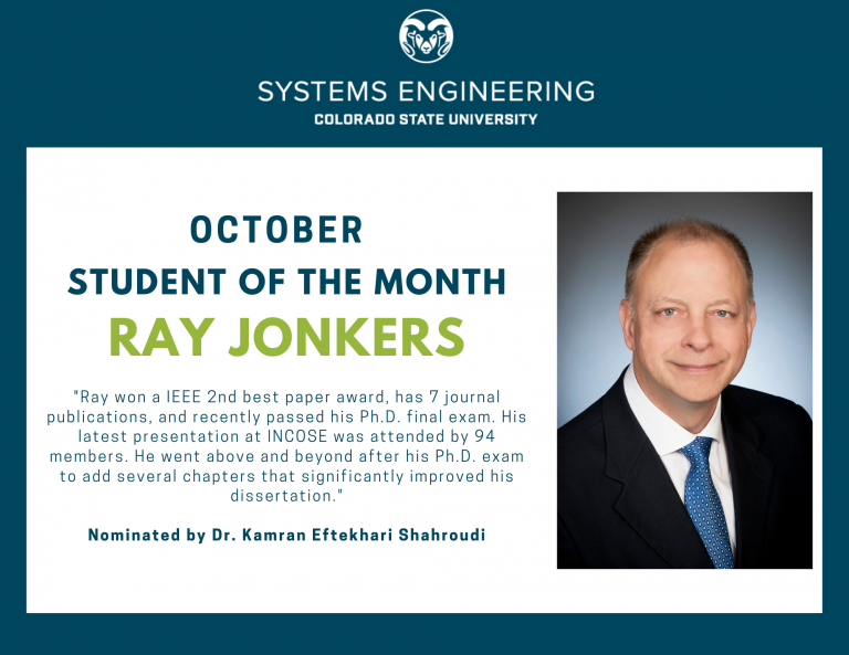 Ray Jonkers - October Student of the Month