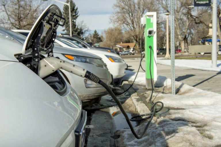 Drive Electric Northern Colorado and local car dealerships hosts event for Colorado State University faculty and staff to test drive plug-in electic vehicles, January 14, 2015.