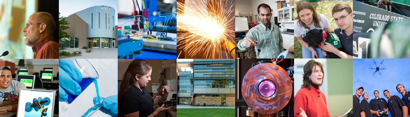 Collage of engineering images
