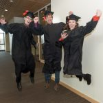 Graduates in Biomedical Engineering before the Engineering 2017 Fall Commencement at Colorado State University, December 16, 2017