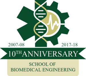School of Biomedical Engineering 10th Anniversary logo