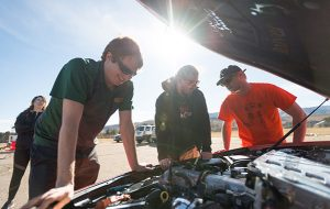 CSU EcoCAR 3 student engineers will bring an Aggie-orange Chevrolet Camaro to Arizona and California