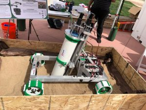 CSU robotic mining senior design team has constructed a robot capable of extracting resources from the surface of a planet.