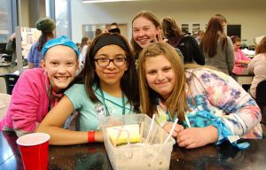 Middle school girls participate in Introduce a Girl to Engineering Day at the Suzanne and Walter Scott, Jr. Bioengineering Building