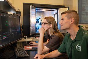 Matt Kipper and grad student