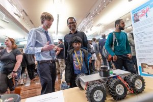 Engineering seniors present their Senior Design Projects to the public at E-Day, sponsored by the Walter Scott Jr. College of Engineering at Colorado State University