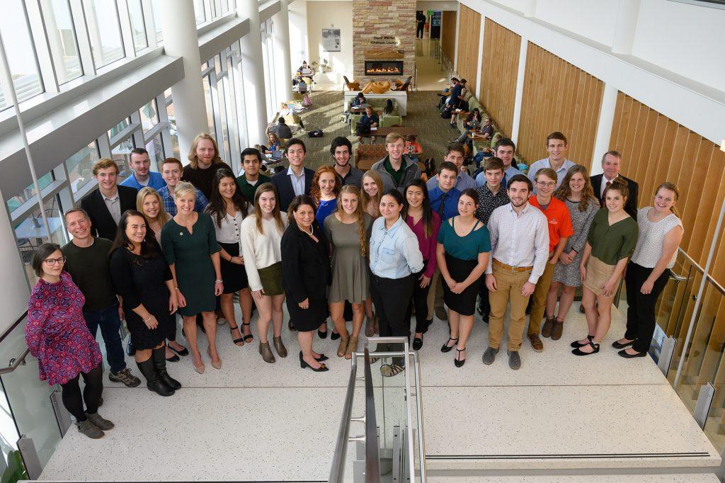President McConnell & Scott Scholar undergrads. November 18, 2019