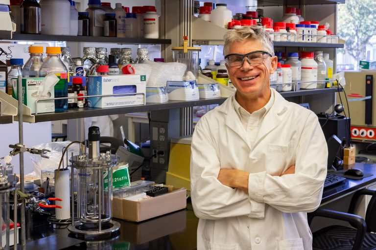 Ken Reardon in the lab, October 2019
