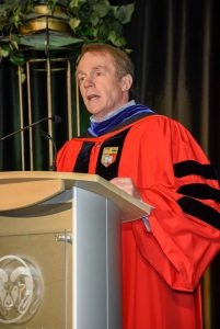Dean David McLean at Fall 2019 Commencement, Walter Scott, Jr. College of Engineering