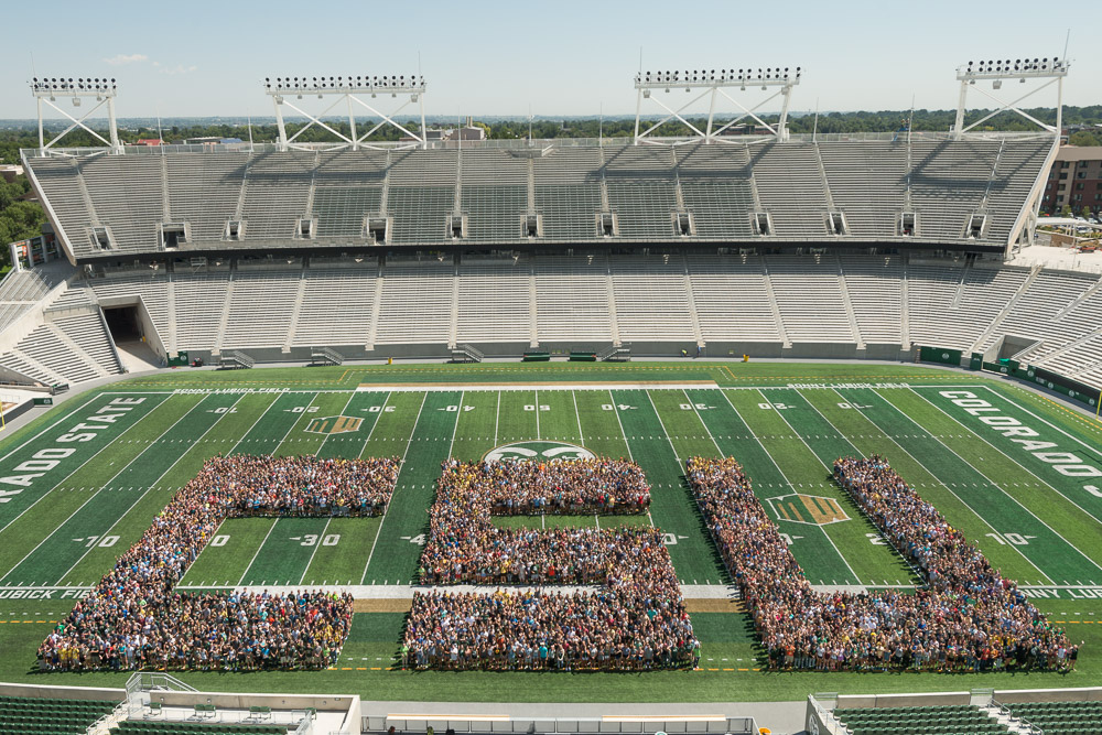 CSU formed by first year students in Canvas Stadium