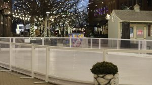 The ice skating rink in Old Town, Fort Collins