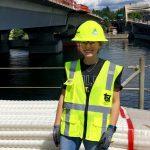 CSU civil engineering Sami Fischer on site for an internship