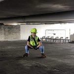 Sami Fischer on site in construction uniform