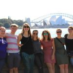 Mauri Richards and other study abroad students in Australia