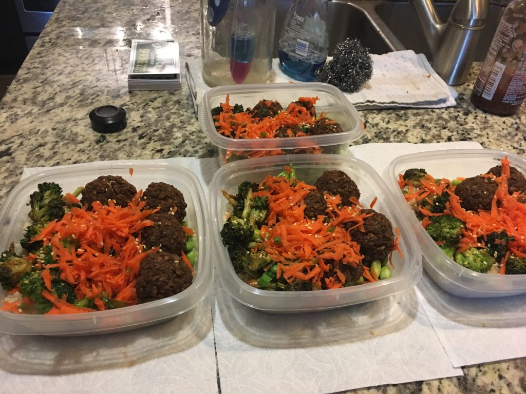 A student's meal preparation