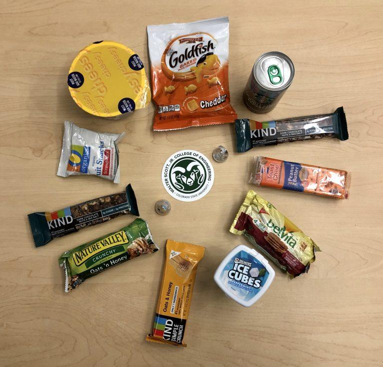 An array of snacks