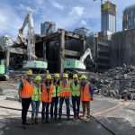 CSU civil engineering intern and other interns on site