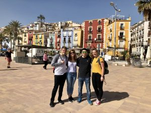 Four study abroad students in Alicante