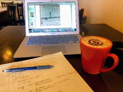 A photo of Civil Engineering work and coffee