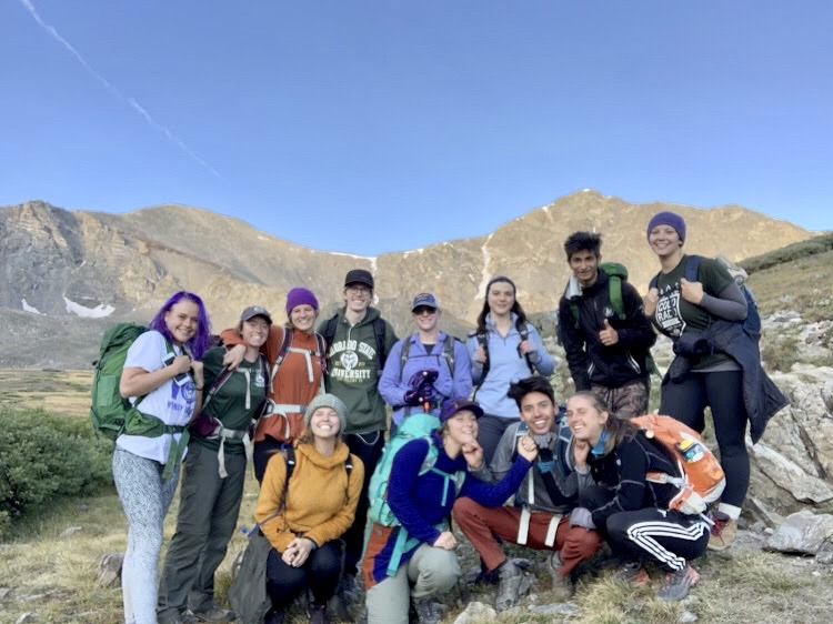 Year2 at CSU students hiking Grays and Torreys
