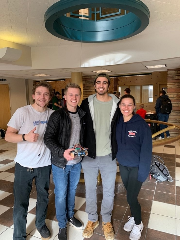 Sarah Verderame and her mechanical engineering group
