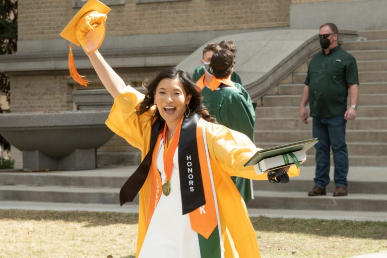 Scott Scholars as the Walter Scott Jr. College of Engineering celebrates its graduates at the Spring 2021 Oval Walk at Colorado State University, April 8, 2021