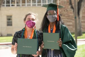 The Walter Scott Jr. College of Engineering celebrates its graduates at the Spring 2021 Oval Walk at Colorado State University, April 8, 2021