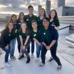 The Engineering Student Ambassadors atop the roof of Scott Bioengineering