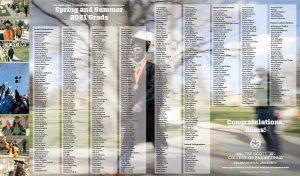 Spring 2021 WSCOE graduation ad cover