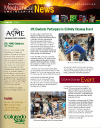 Click to open the most recent CSU mechanical engineering newsletter